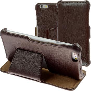 Echt-Lederhülle iPhone 6s / 6 Leder-Case braun