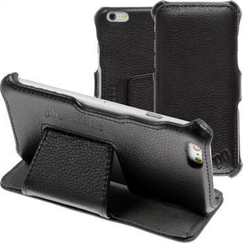 Echt-Lederhülle iPhone 6s / 6 Leder-Case schwarz