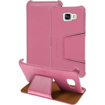 Echt-Lederhülle Galaxy A5 (2016) A510 Leder-Case rosa