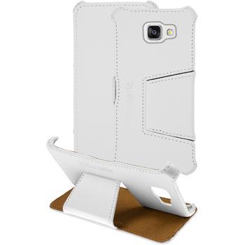 Echt-Lederhülle Galaxy A5 (2016) A510 Leder-Case weiß