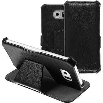 Echt-Lederhülle Galaxy S6 Leder-Case schwarz