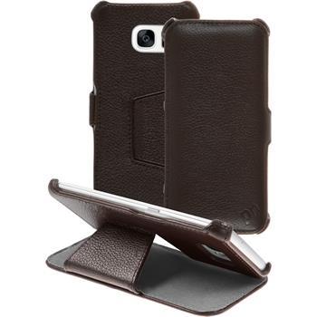 Echt-Lederhülle Galaxy S7 Edge Leder-Case braun