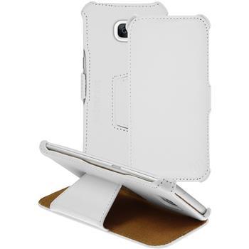 Echt-Lederhülle Galaxy S7 Edge Leder-Case weiß