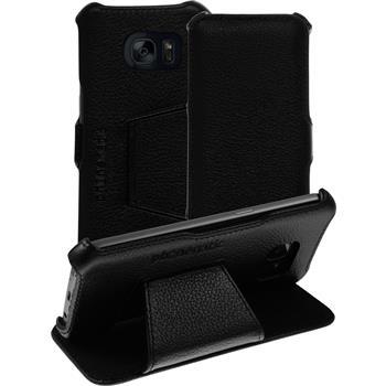 Echt-Lederhülle Galaxy S7 Leder-Case schwarz