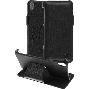 Echt-Lederhülle Xperia XA Leder-Case schwarz