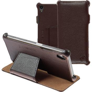 Echt-Lederhülle Xperia Z5 Leder-Case braun