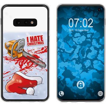 Samsung Galaxy S10e Silicone Case Christmas X Mas M8