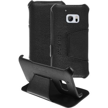 genuine Leather Case for HTC 10 Leather-Case black + glass film