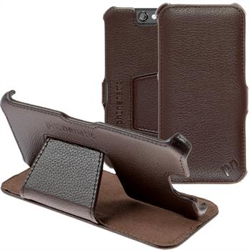 genuine Leather Case for HTC One A9  brown