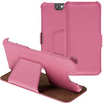 genuine Leather Case for HTC One A9  hot pink