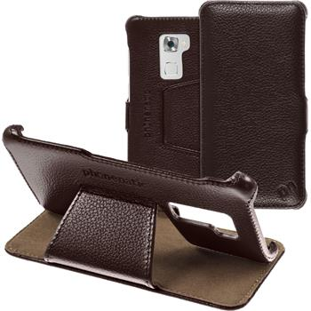 genuine Leather Case for Huawei Mate S  brown