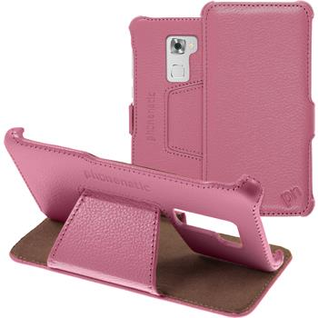 genuine Leather Case for Huawei Mate S  hot pink