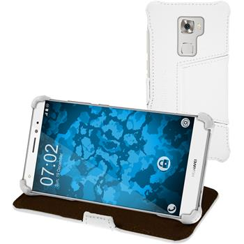 genuine Leather Case for Huawei Mate S Leather-Case white + glass film