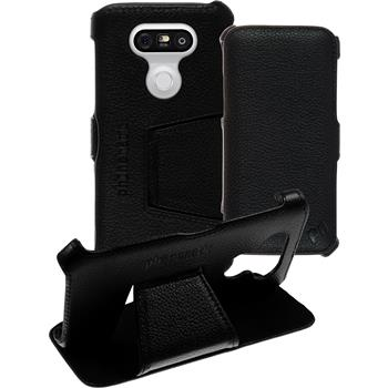 genuine Leather Case for LG G5 Leather-Case black + glass film