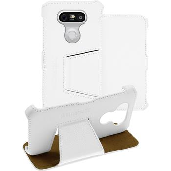 genuine Leather Case for LG G5 Leather-Case white + glass film