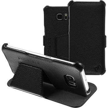 genuine Leather Case for Samsung Galaxy S6 Edge  black