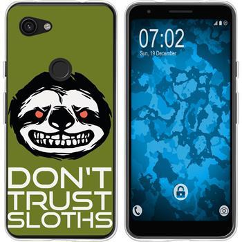 Google Pixel 3a XL Silicone Case Crazy Animals sloth M3
