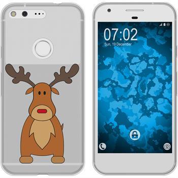 Google Pixel XL Silikon-Hülle X Mas Weihnachten  M3