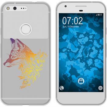 Google Pixel XL Silikon-Hülle Floral  M1-3