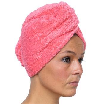 Cosey - Mikrofaser Turban-Handtuch - Flauschiges Fleece Kopf-Handtuch 400 g/m², in dunkelblau