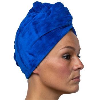 Cosey -1x Mikrofaser Turban-Handtuch - Flauschiges Kopf-Handtuch 350 g/m², in dunkelblau
