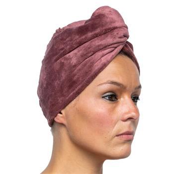 Cosey - 1x Mikrofaser Turban-Handtuch - Flauschiges Kopf-Handtuch 350 g/m², in braun