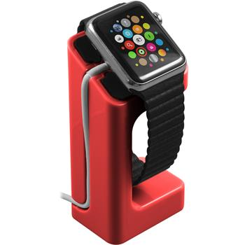 Halterung für Apple Watch Ladestation in rot