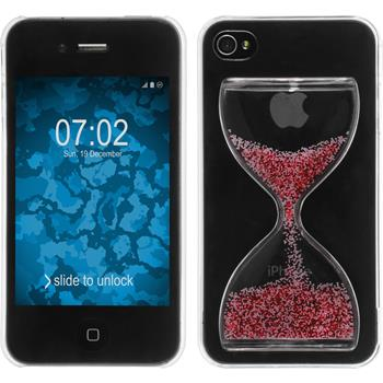 Hardcase for Apple iPhone 4S Hourglass red white