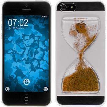 Hardcase for Apple iPhone 5 / 5s / SE Hourglass bronze