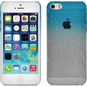 Hardcase for Apple iPhone 5 / 5s Waterdrops light blue