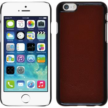 Hardcase for Apple iPhone 6 leather optics brown