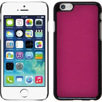 Hardcase for Apple iPhone 6 leather optics hot pink