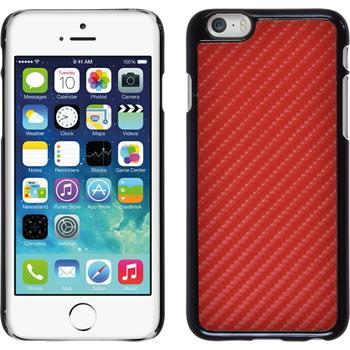 Hardcase for Apple iPhone 6 carbon optics red
