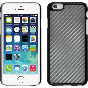 Hardcase for Apple iPhone 6 carbon optics silver