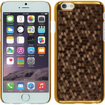 Hardcase for Apple iPhone 6 hexagon brown
