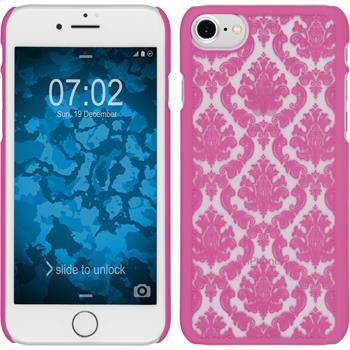 Hardcase for Apple iPhone 7 Damask hot pink