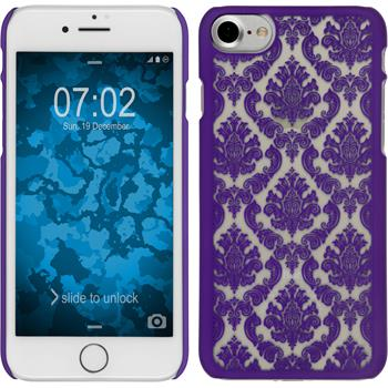 Hardcase for Apple iPhone 7 Damask purple