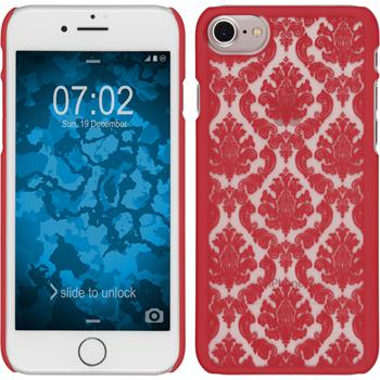 Hardcase for Apple iPhone 7 Damask red