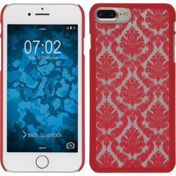 Hardcase for Apple iPhone 7 Plus Damask red
