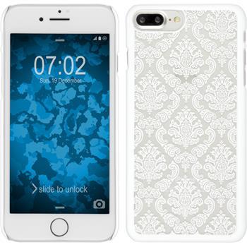 Hardcase for Apple iPhone 7 Plus Damask white