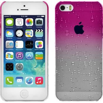 Hardcase for Apple iPhone SE Waterdrops hot pink