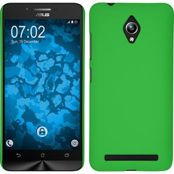 Hardcase for Asus Zenfone Go (ZC500TG) rubberized green