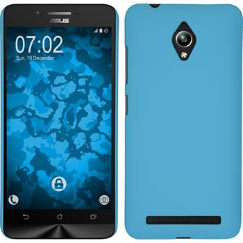 Hardcase for Asus Zenfone Go (ZC500TG) rubberized light blue