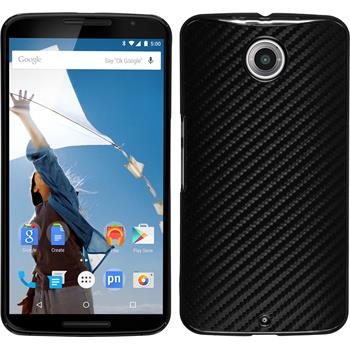 Hardcase for Google Motorola Nexus 6 carbon optics black