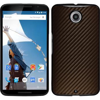 Hardcase for Google Motorola Nexus 6 carbon optics bronze
