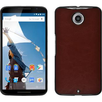 Hardcase for Google Motorola Nexus 6 leather optics brown