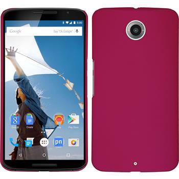 Hardcase for Google Motorola Nexus 6 rubberized hot pink