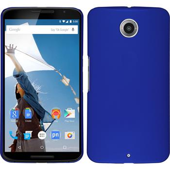 Hardcase for Google Motorola Nexus 6 rubberized light blue