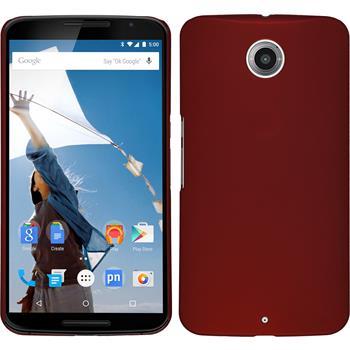 Hardcase for Google Motorola Nexus 6 rubberized red