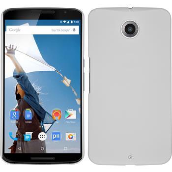Hardcase for Google Motorola Nexus 6 rubberized white